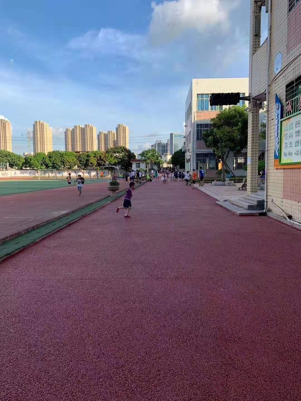 丰泽区学校运动场热熔画线完工