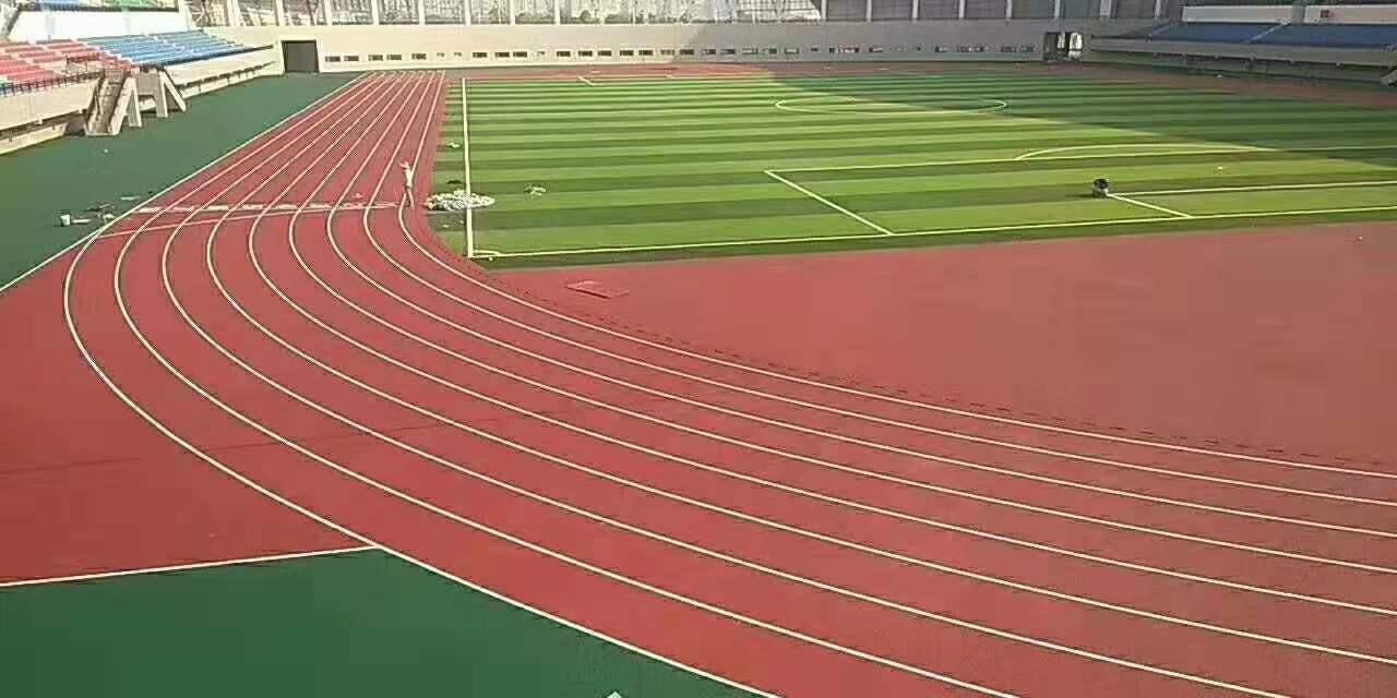 厦门体育彩票bobapp馆16000方新国标混合型塑胶跑道顺利完工
